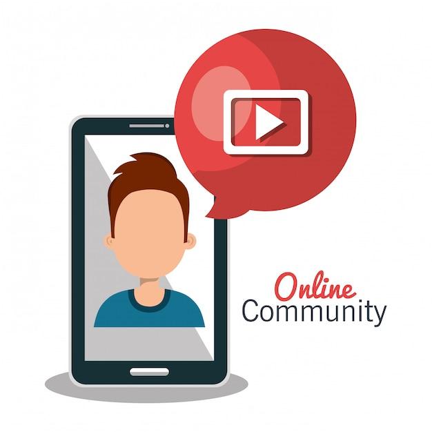 Comunidade online Vetor grátis