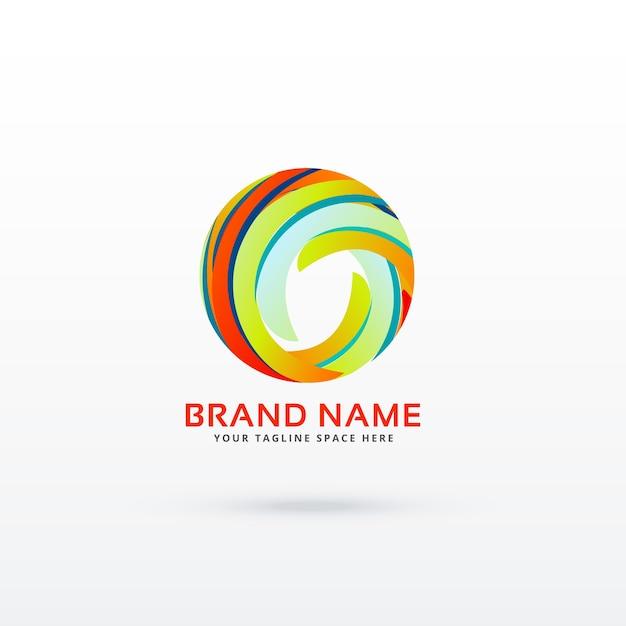 Conceito abstrato de design do logotipo do círculo Vetor grátis