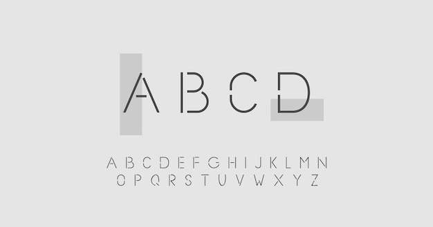 Conceito abstrato mínimo alfabeto Vetor Premium