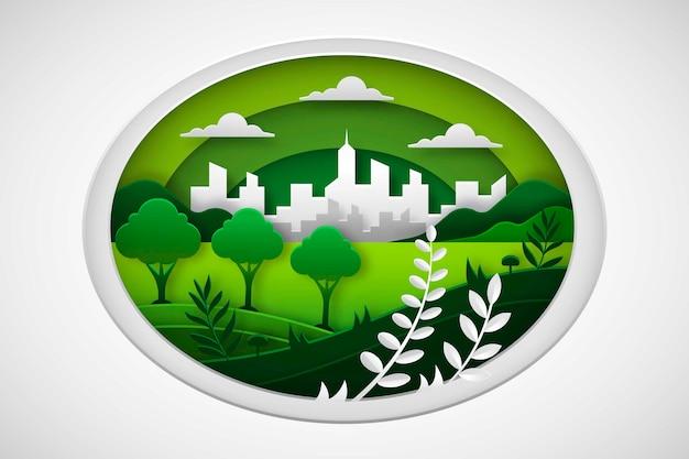 Conceito ambiental em estilo de jornal Vetor grátis