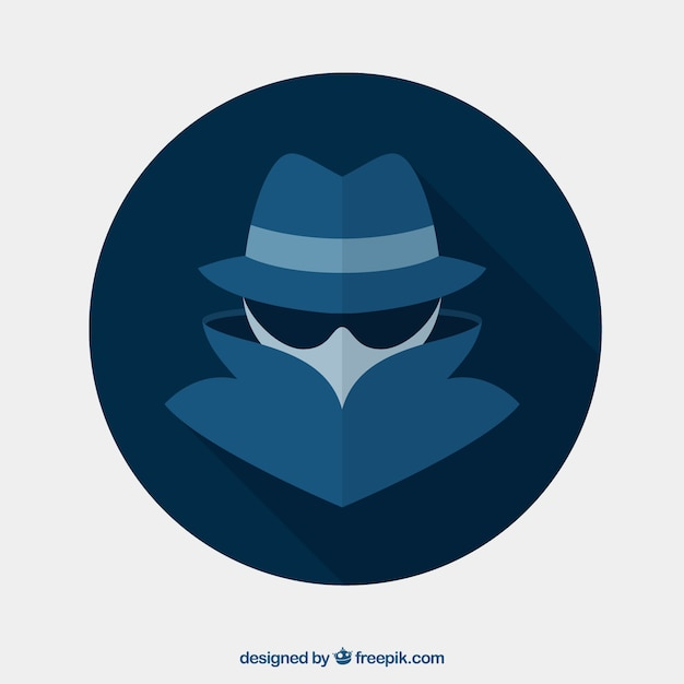 Conceito anônimo moderno com design plano Vetor Premium