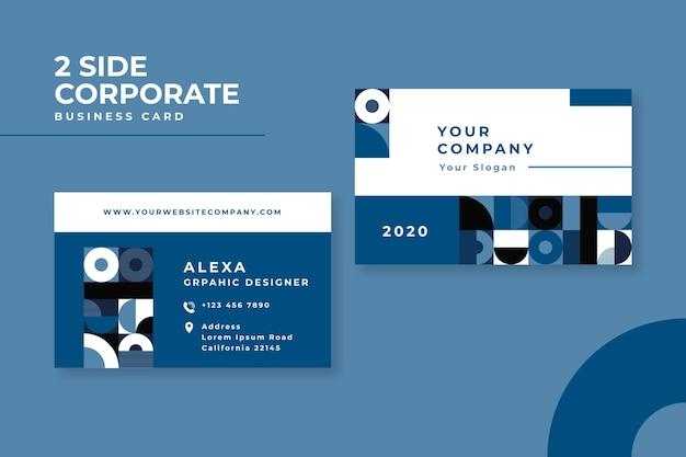 Conceito azul clássico abstrato para cartão de visita Vetor grátis