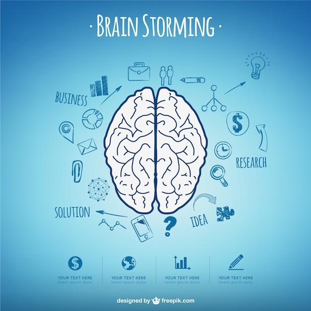 Conceito cérebro storming vector Vetor grátis