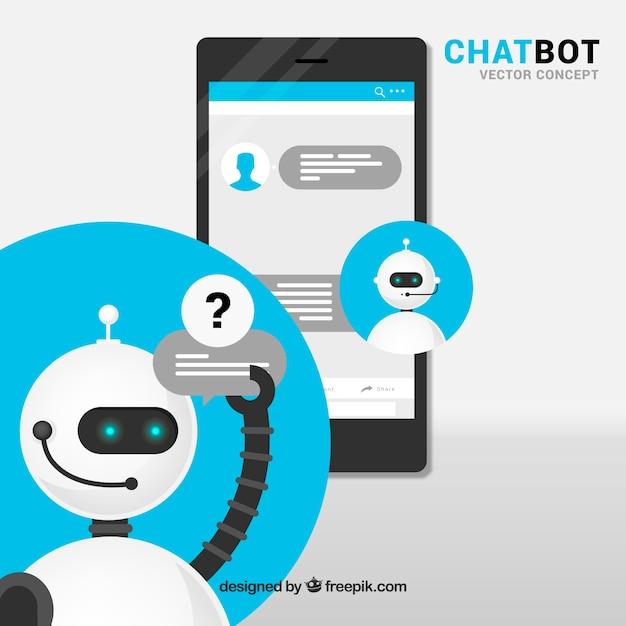 Conceito chatbot Vetor grátis