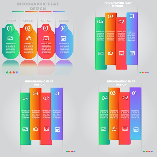 Conceito criativo de apresentação para infográfico Vetor Premium