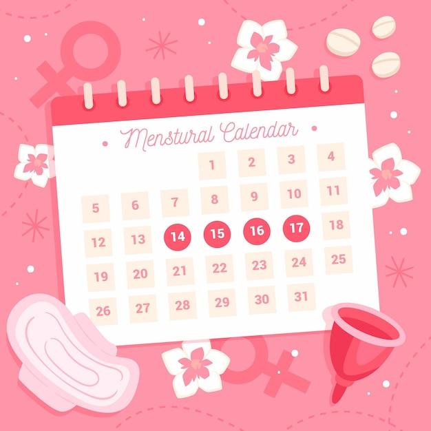 Conceito criativo de calendário menstrual Vetor grátis