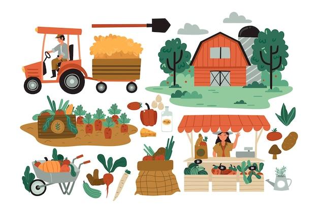 Conceito de agricultura biológica Vetor grátis
