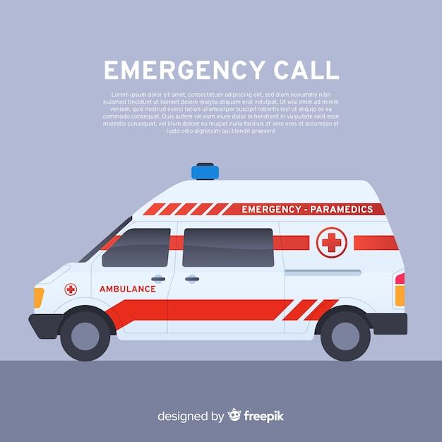 Conceito de ambulância em estilo simples Vetor grátis