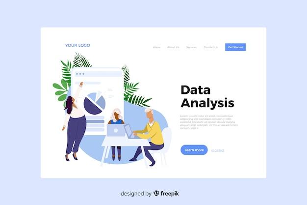 Conceito de análise de dados para a página de destino Vetor grátis