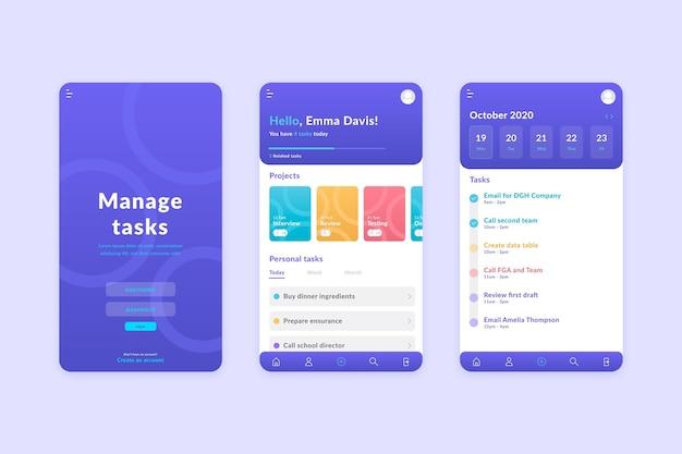 Conceito de aplicativo de gerenciamento de tarefas Vetor grátis