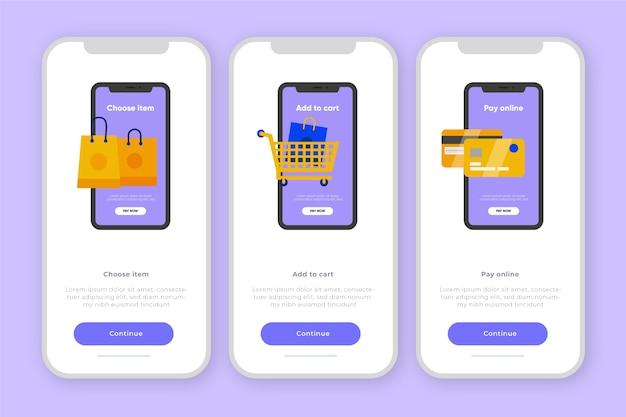 Conceito de aplicativo integrado para compra on-line Vetor grátis