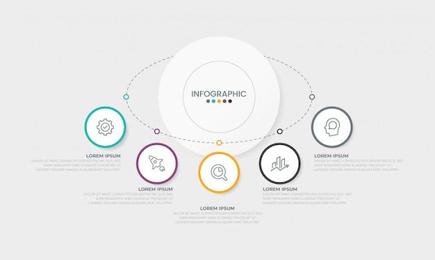 Conceito de apresentação do negócio infográficos modelo infográfico Vetor Premium