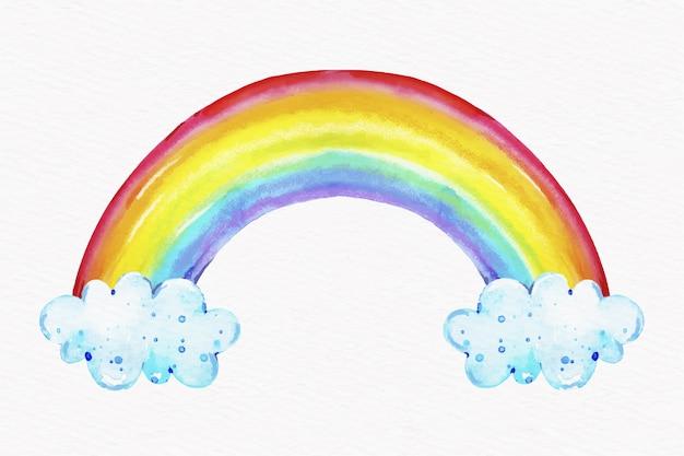 Conceito de arco-íris aquarela Vetor grátis