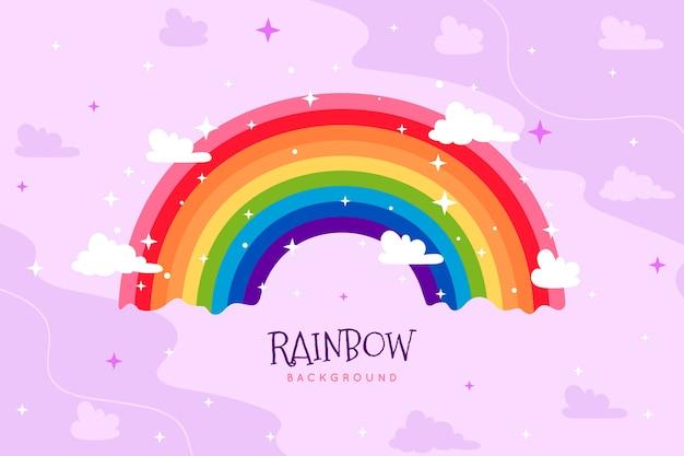 Conceito de arco-íris desenhado à mão Vetor grátis