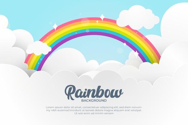 Conceito de arco-íris design plano Vetor grátis