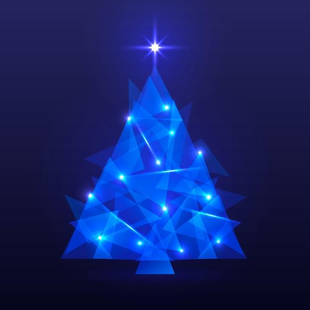 Conceito de árvore de natal com design abstrato Vetor grátis