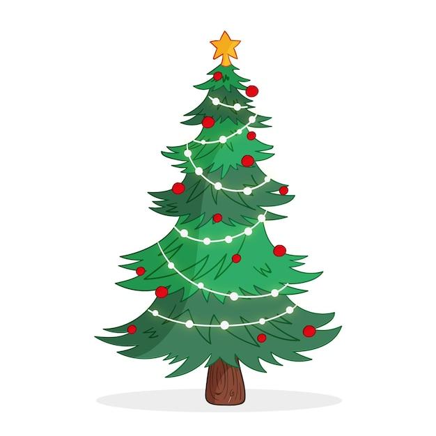 Conceito de árvore de natal Vetor grátis