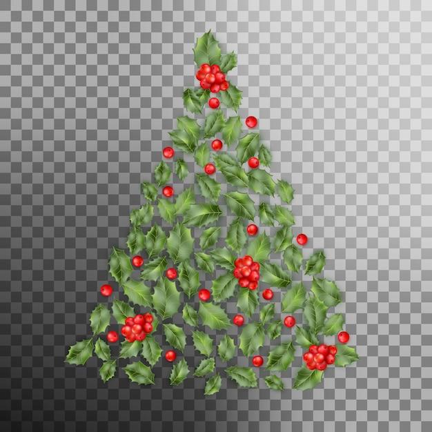 Conceito de árvore de natal. Vetor Premium