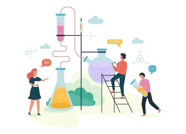Conceito de assunto de química. experiência científica no laboratório Vetor Premium