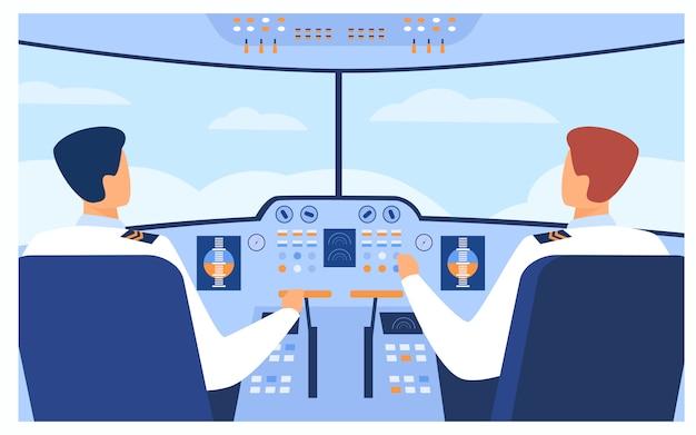 Conceito de aviação e voo Vetor grátis