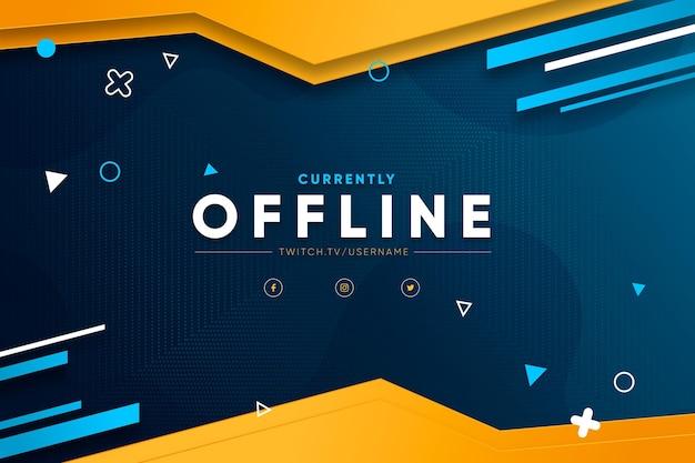 Conceito de banner de contração offline Vetor Premium