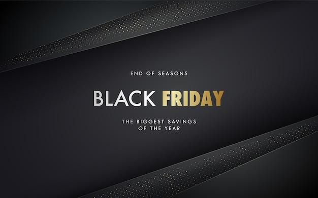 Conceito de banner de venda da black friday Vetor Premium