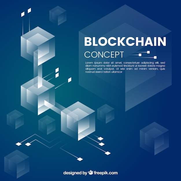 Conceito de blockchain infográfico Vetor Premium