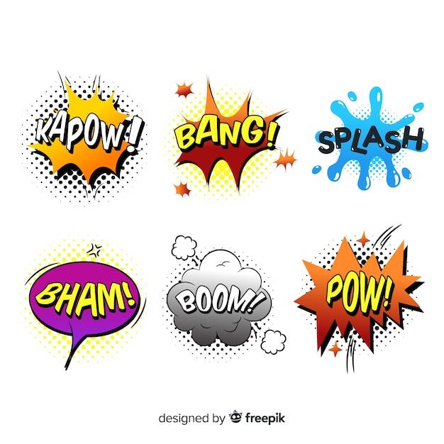 Conceito de bolha do discurso em quadrinhos colorido Vetor grátis