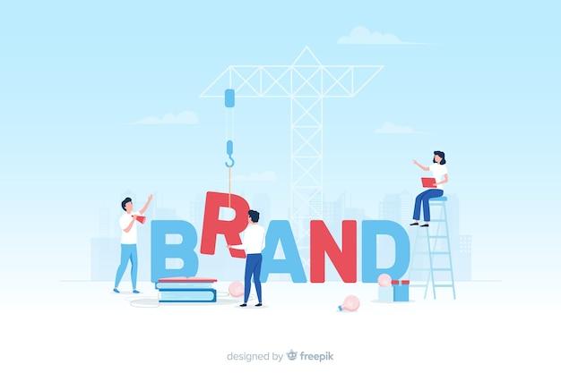 Conceito de branding para a página de destino Vetor grátis