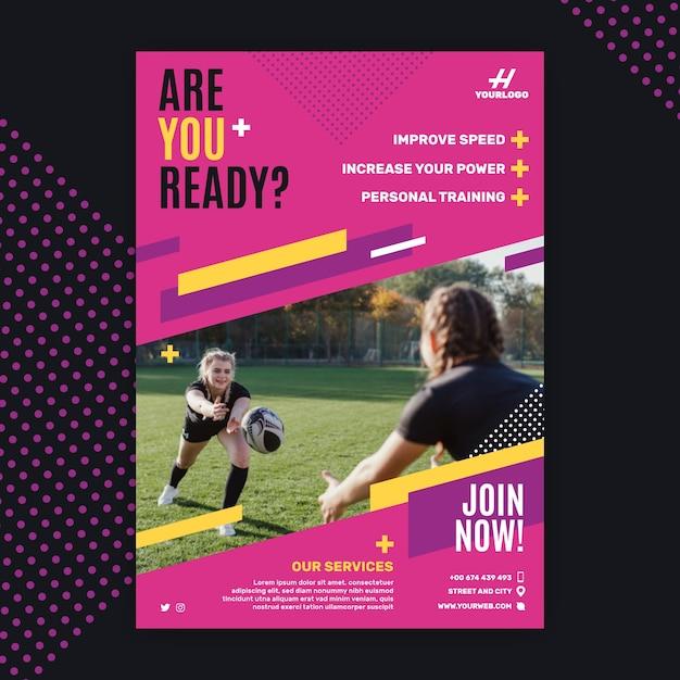 Conceito de brochura de esporte Vetor grátis