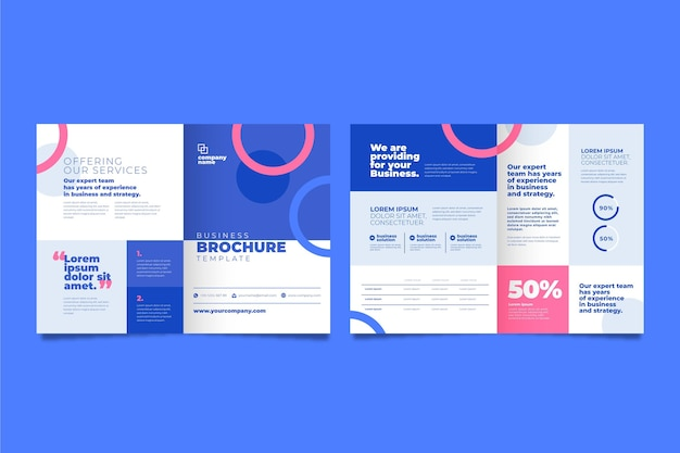 Conceito de brochura de negócios Vetor Premium