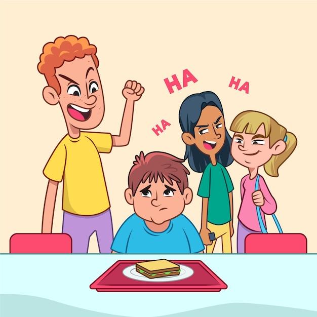 Conceito de bullying Vetor grátis