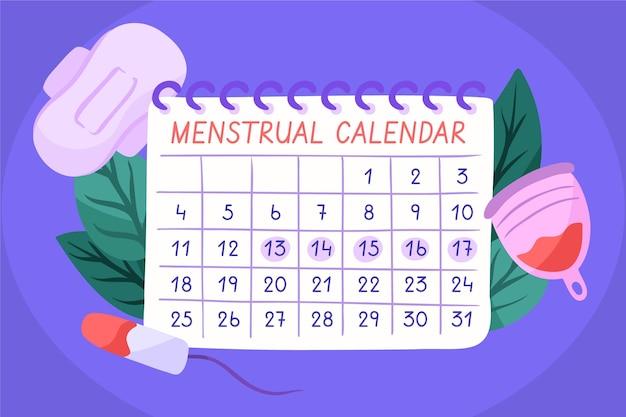 Conceito de calendário menstrual Vetor Premium