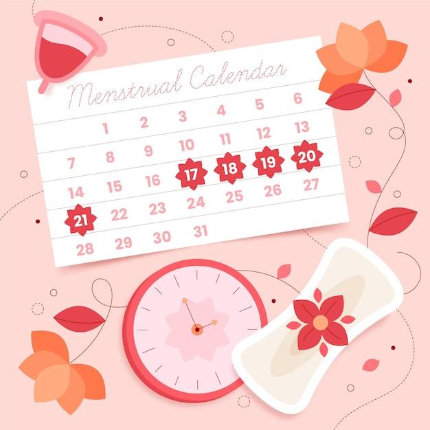 Conceito de calendário menstrual Vetor grátis