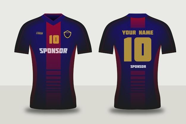 Conceito de camisa de futebol Vetor Premium