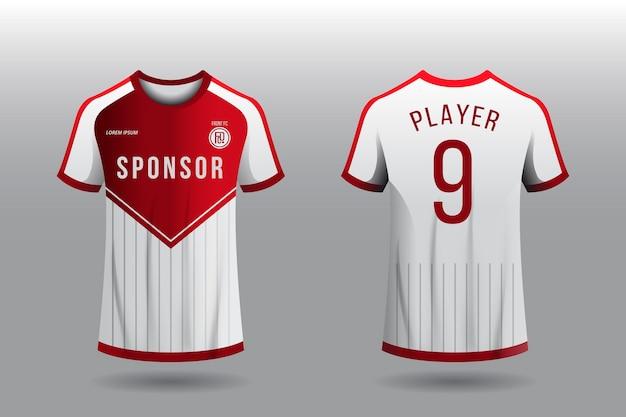 Conceito de camiseta de camisa de futebol Vetor Premium
