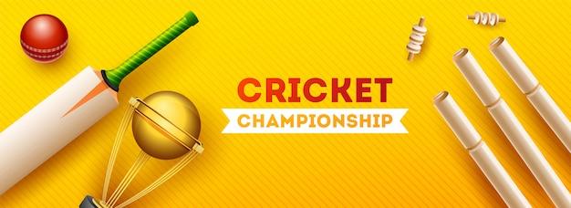 Conceito de campeonato de críquete do mundo. Vetor Premium