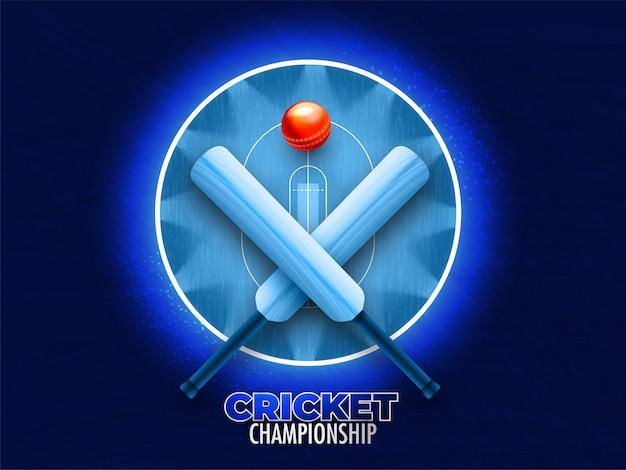 Conceito de campeonato de críquete. Vetor Premium