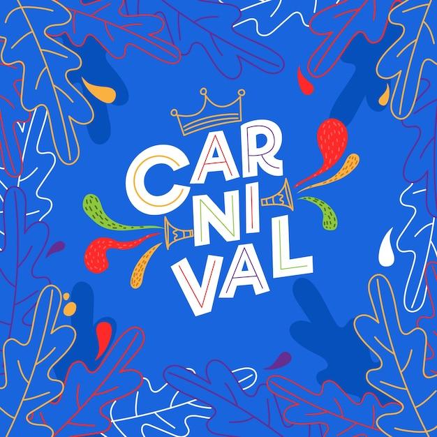 Conceito de carnaval desenhado de mão Vetor grátis