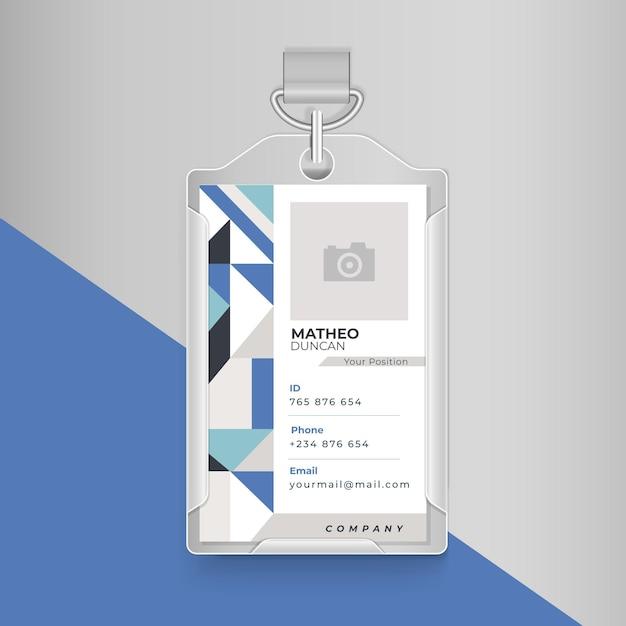 Conceito de cartão de identificação empresarial Vetor grátis