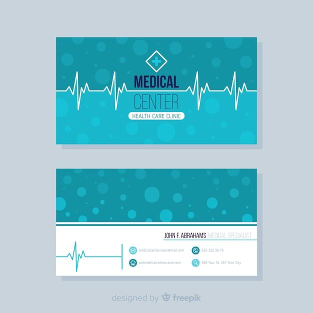 Conceito de cartão elegante para hospital ou médico Vetor grátis