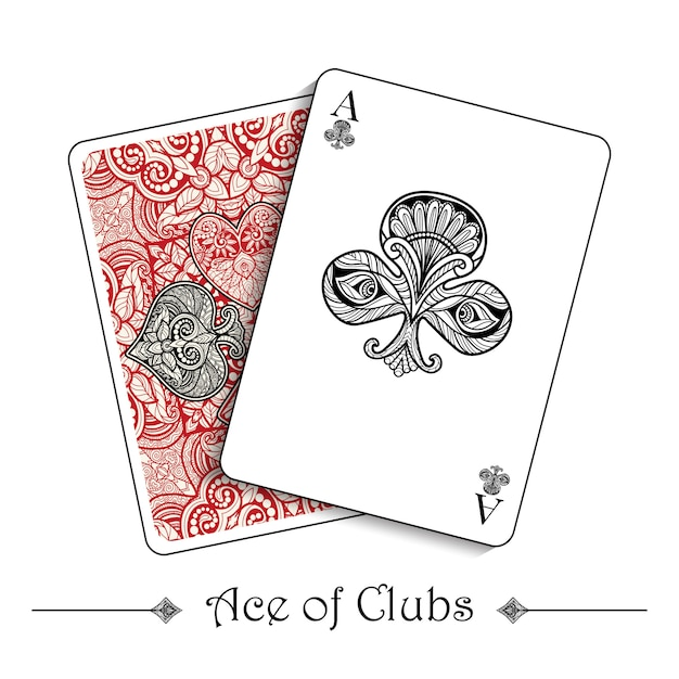 Conceito de cartas de jogar Vetor grátis