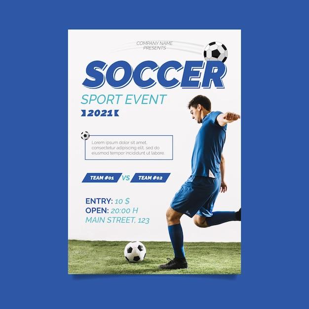 Conceito de cartaz de evento esportivo 2021 Vetor grátis