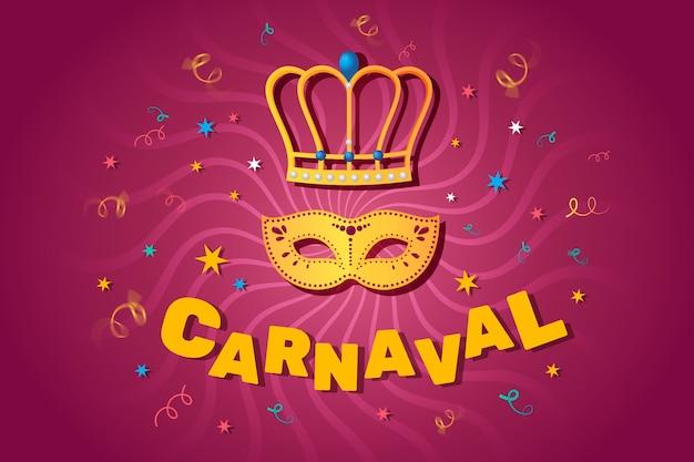 Conceito de celebração de carnaval de design plano Vetor grátis