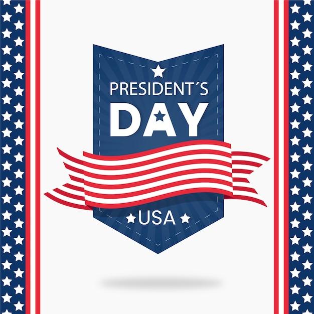 Conceito de celebração de dia dos presidentes de design plano Vetor grátis