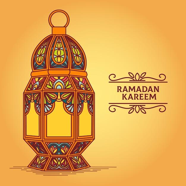 Conceito de celebração do ramadã desenhados à mão Vetor grátis