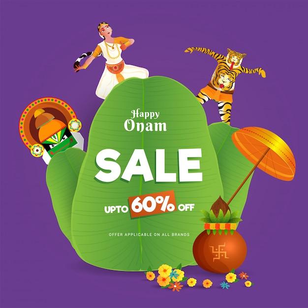 Conceito de celebração festival de onam. Vetor Premium