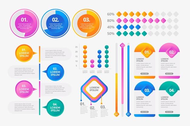 Conceito de coleção de elementos infográfico Vetor grátis