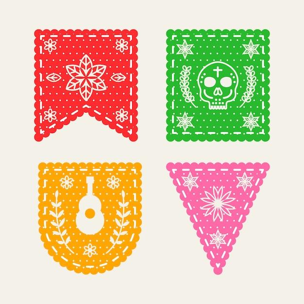 Conceito de coleção de estamenha mexicana Vetor grátis