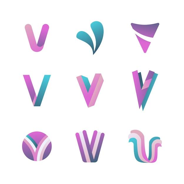 Conceito de coleção de logotipo v Vetor grátis